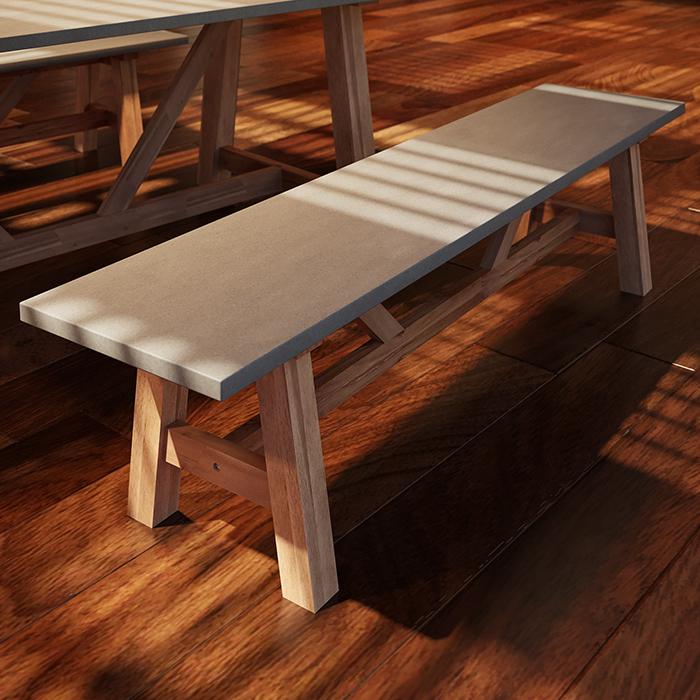 Tusk Living Beton Bench Seat