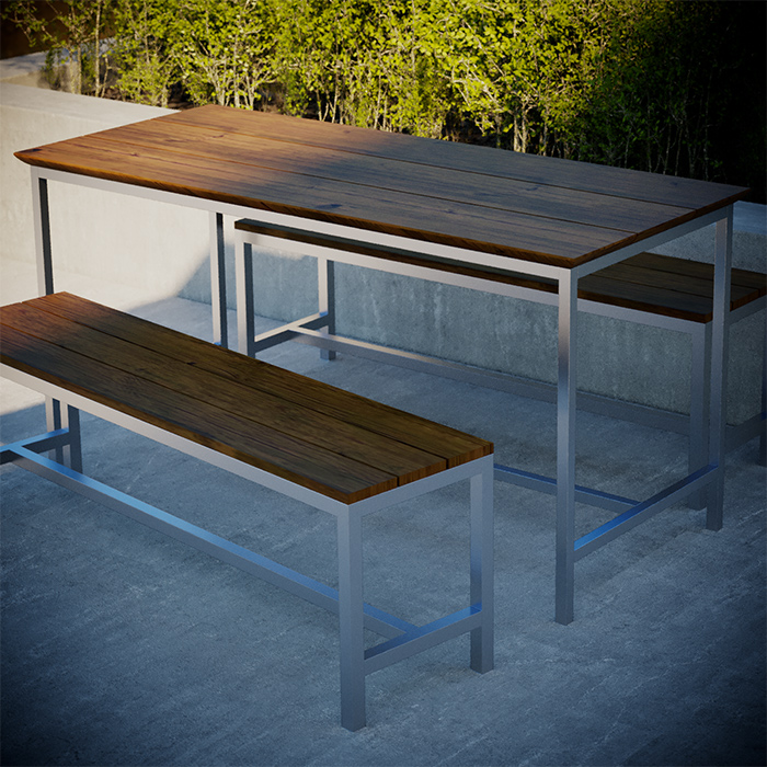 TUSK LIVING ASTON 150CM STAINLESS STEEL OUTDOOR TABLE