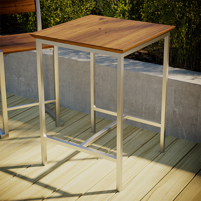 TUSK LIVING ASTON 65CM STAINLESS STEEL OUTDOOR COUNTER TABLE
