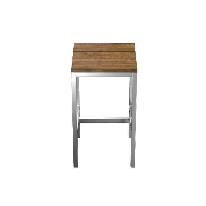 TUSK LIVING ASTON STAINLESS STEEL OUTDOOR COUNTER STOOL